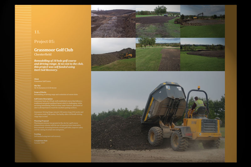 Brochure Design For Woodland Golf 30two
