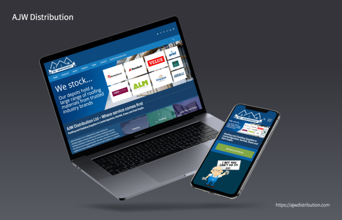 AJW Distribution Wordpress and Woocommerce website design by 30two