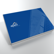 Apex Architecture and Design logo on brochure cover