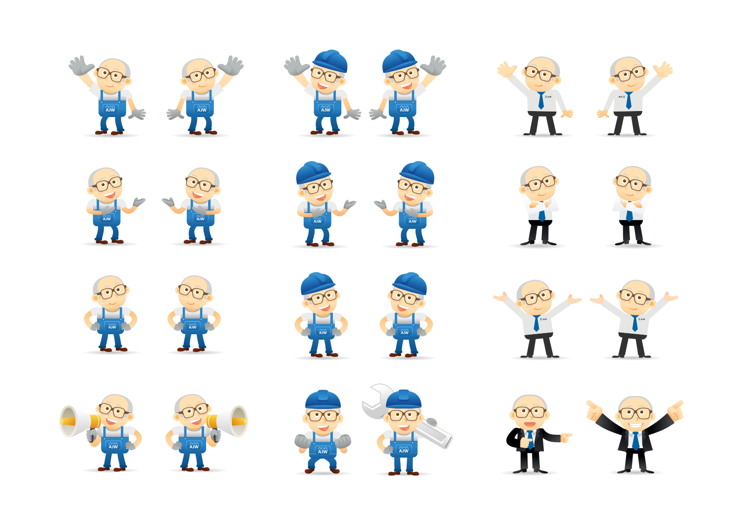 Mini Alan company mascot charcter design for AJW by 30two