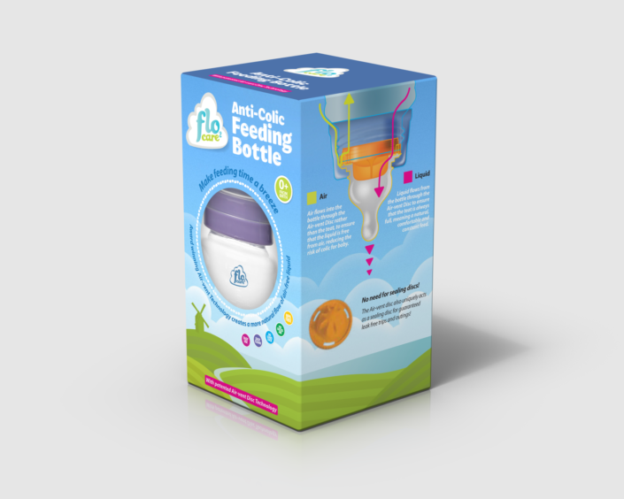 Flo2 Care baby bottle concept single pack