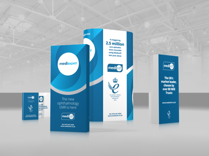 Exhibition stand design for Medisoft